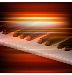 abstract red blur music background with piano keys vector image