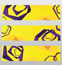 Abstract shape polygon header frame banner vector