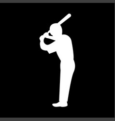 ballplayer it is the white color icon vector image
