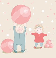 children playing lollipop balls vector image vector image