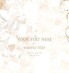 Classical White Floral Invitation vector image vector image