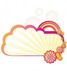 colorful tag vector image vector image