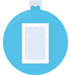 frost glass pattern winter frame on blue vector image vector image