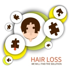 Hair loss solution concept vector