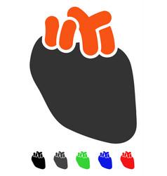 Heart organ flat icon vector