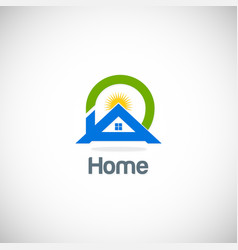 home solar summer logo vector image