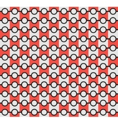 Isolated abstract grey and red color pattern vector