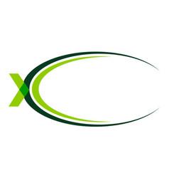 letter x swoosh vector image