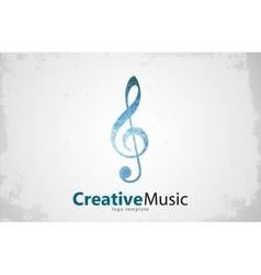 Music logo Musical key note template logo vector image