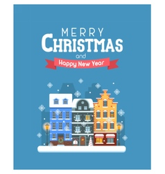 New year and christmas greeting card vector