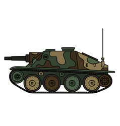 Old tank destroyer vector