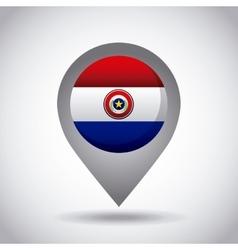 Paraguay flag pin vector