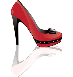 red high heel shoe vector image vector image