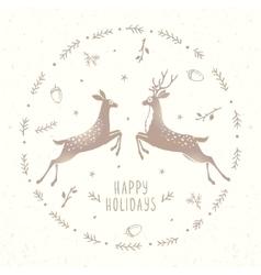 Two graceful deer vector image vector image