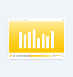 Video audio player interface modern template vector