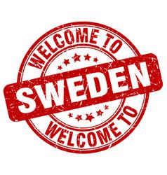Welcome to sweden vector