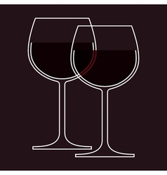 Wineglasses vector image