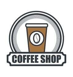 coffee shop store cover vector image