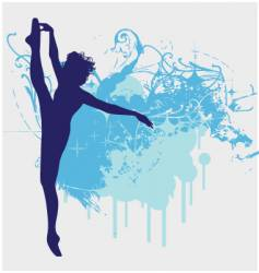 ballet dancer leg up illustration vector image