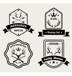 Deer hunting badges vector