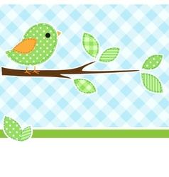greeting card bird vector image