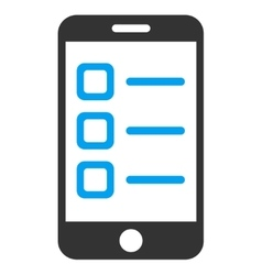 Mobile list icon vector