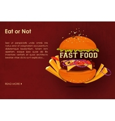 Fast food restaurant poster with beaf meat vector