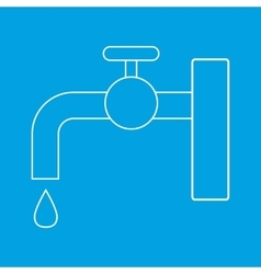 Faucet thin line icon vector
