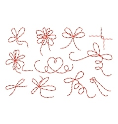 Gift twine bows set vector
