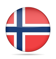 Button with flag of norway vector