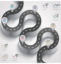Road and street traffic sign curve step business vector