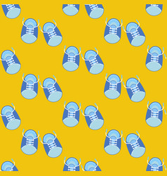 Baby boy shoes seamless pattern vector
