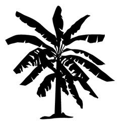 Banana tree silhouette vector