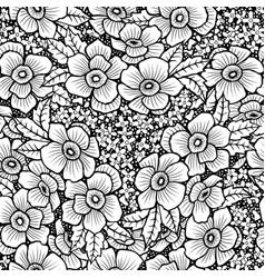 Black and white flower vector