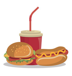 Burger fast food design isolated vector