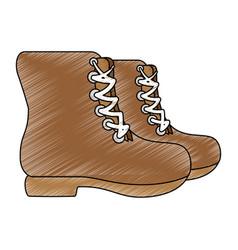 camping boot footwear vector image
