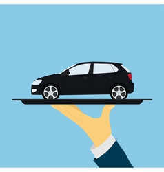 car on tray vector image