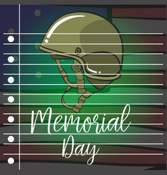 Collection stock of memorial day style vector