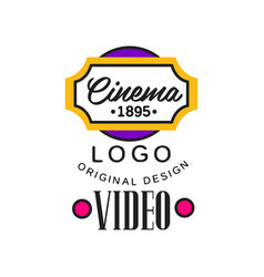 Colorful video company or movie business logo vector