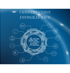 Construction infographic template vector