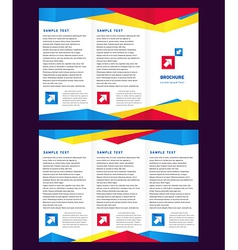 creative design brochure Tri-fold Layout Design vector image vector image