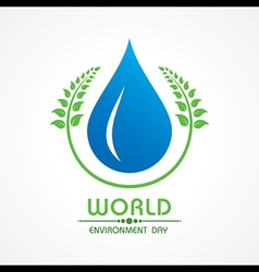 Creative World Environment Day Greeting vector image vector image