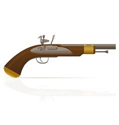 flintlock pistol 01 vector image vector image