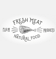 Fresh meat design element vector image