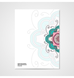 Graphic design letterhead with hand drawn ornament vector image