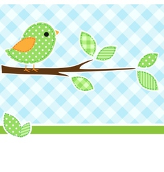 Greeting card bird vector