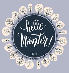 hello winter vector image vector image