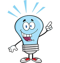 Light bulb with a bright idea vector image vector image