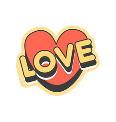 love short message retro speech bubble in the vector image