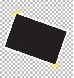 Photo frame on sticky tape template photo design vector